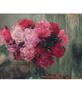 Printing on canvas: Lawrence Alma-Tadema - Japanese Peonies