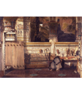 Lawrence Alma-Tadema - La vedova egiziana. Stampa su tela