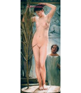 Lawrence Alma-Tadema - Modella per scultore. Stampa su tela