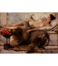 Stampa su tela: Lawrence Alma-Tadema - Tepidarium