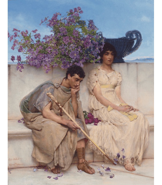 Printing on canvas: Lawrence Alma-Tadema - An eloquent silence