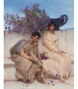 Lawrence Alma-Tadema - Un silenzio eloquente. Stampa su tela