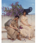Lawrence Alma-Tadema - An eloquent silence. Printing on canvas