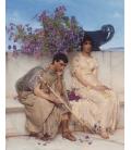 Stampa su tela: Lawrence Alma-Tadema - Un silenzio eloquente