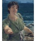 Lawrence Alma-Tadema - Una carita. Stampa su tela