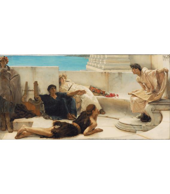 Stampa su tela: Lawrence Alma-Tadema - Una lettura di Omero