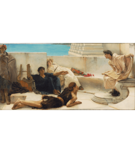 Lawrence Alma-Tadema - A reading of Homer. Printing on canvas