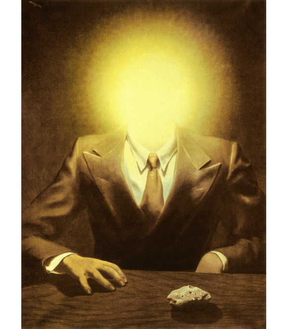 Printing on canvas: Rene Magritte - The Pleasure Principle (Portrait of Edward James)