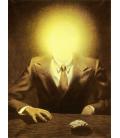 Rene Magritte - The Pleasure Principle (Portrait of Edward James). Printing on canvas