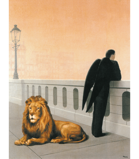 Stampa su tela: Magritte René - Nostalgia del proprio paese