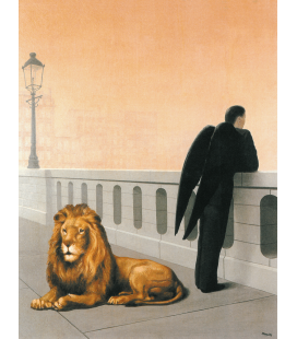 Rene Magritte - Homesickness. Printing on canvas