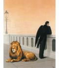 Magritte René - Nostalgia del proprio paese. Stampa su tela