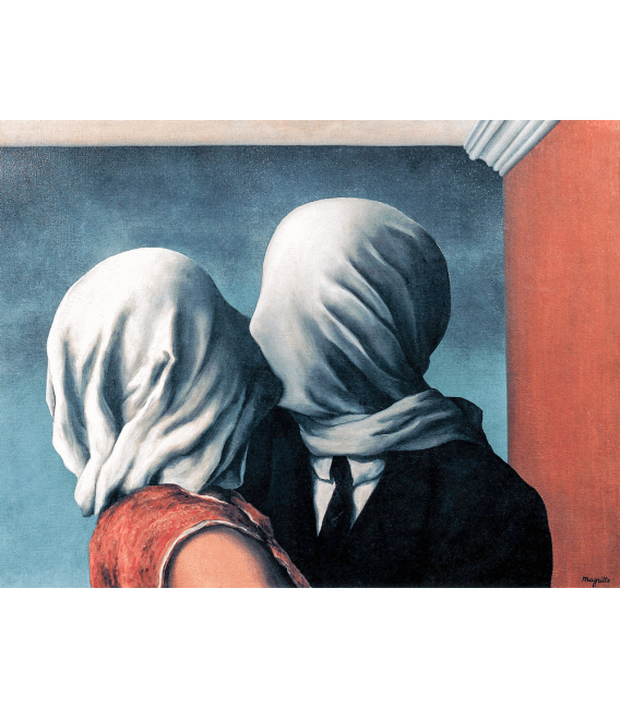 Stampa su tela: Magritte René - The Lovers