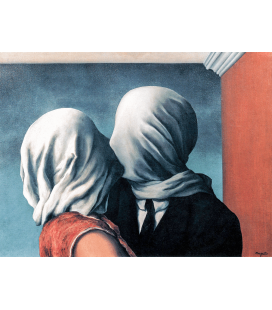 Rene Magritte - The Lovers. Printing on canvas