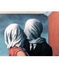 Magritte René - Gli amanti. Stampa su tela