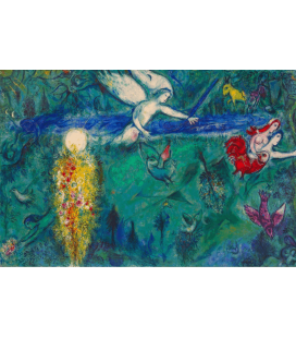 Marc Chagall - Adam and Eve expelled from paradise. Printing on canvas