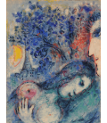 Printing on canvas: Marc Chagall - Lovers