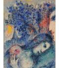 Marc Chagall - Amanti. Stampa su tela