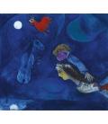 Stampa su tela: Marc Chagall - Coq rouge dans la nuit