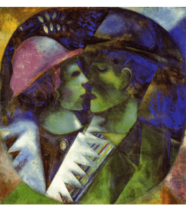Printing on canvas: Marc Chagall - The lovers in green