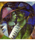 Marc Chagall - The lovers in green. Printing on canvas