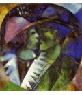 Marc Chagall - Gli innamorati in Verde. Stampa su tela