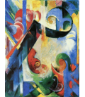 Printing on canvas: Franz Marc - Broken forms