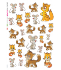 Decoupage rice paper: Mouses and Cats