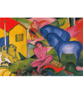 Printing on canvas: Franz Marc - The Dream