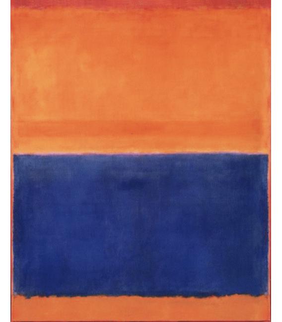 Stampa su tela: Mark Rothko - Arancione e Blu