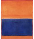 Mark Rothko - Orange and Blue. Printing on canvas