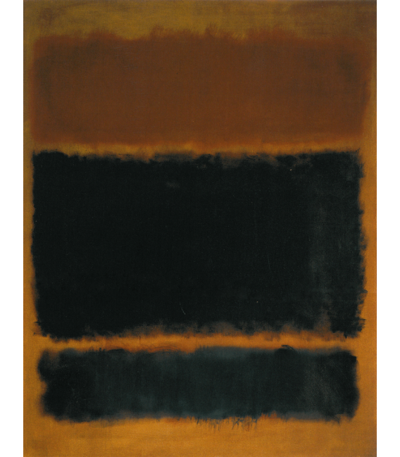 Stampa su tela: Mark Rothko - Black in Deep Redf