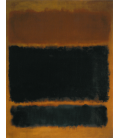 Mark Rothko - Black in Deep Red. Printing on canvas