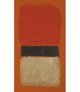 Printing on canvas: Mark Rothko - Black Stripe (Orange