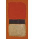Mark Rothko - Black Stripe (Orange, Gold and Black). Printing on canvas