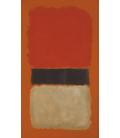 Mark Rothko - Strisce Nere (Arancione, Oro and Nero). Stampa su tela