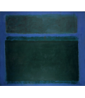 Printing on canvas: Mark Rothko - Blackish Green on Blue Tone