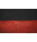 Mark Rothko - Black, Red. Printing on canvas