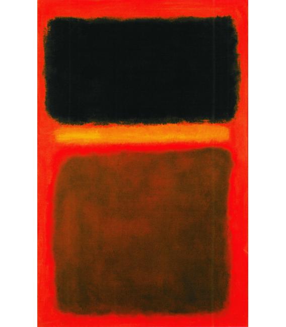 Printing on canvas: Mark Rothko - Black