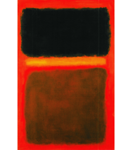Printing on canvas: Mark Rothko - Black