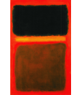 Mark Rothko - Black, yellow, brown on red. Printing on canvas