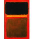 Mark Rothko - Nero, giallo, marrone su rosso. Stampa su tela