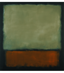Mark Rothko - Dark Brown and Gray. Printing on canvas