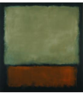 Mark Rothko - Marrone scuro su Grigio. Stampa su tela
