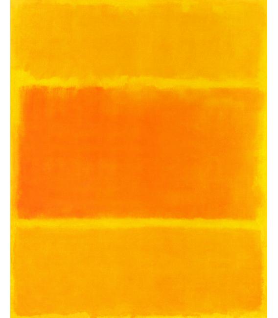 Stampa su tela: Mark Rothko - Giallo e Arancione 1955