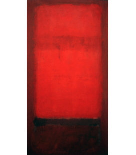 Mark Rothko - The red light on dark red. Printing on canvas