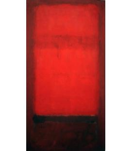Mark Rothko - La luce rossa su rosso scuro. Stampa su tela