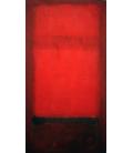 Stampa su tela: Mark Rothko - La luce rossa su rosso scuro