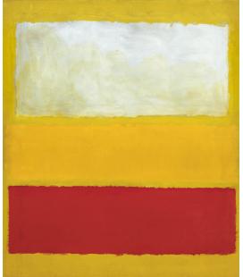 Mark Rothko - No 13 (Bianco, Rosso su Giallo). Stampa su tela