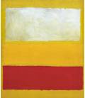 Mark Rothko - No. 13 (White, Red on Yellow). Printing on canvas